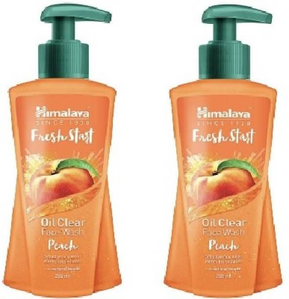 HIMALAYA New Fresh-Start Oil Clear Peach  ( 2 X 200 ml ) Face Wash
