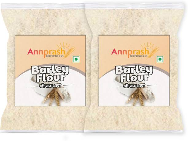 ANNPRASH Premium Quality Barley Flour/ Jau Atta - 1kg (500gmx2)