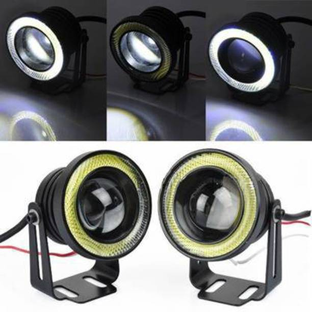 Autofasters Car Fog LED Super Lamp 3.5 Inch with Angel Eye DRL Led Light Car Fancy Lights