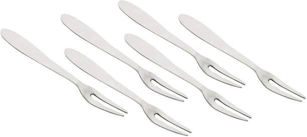 AppEasy Stainless Steel Fruit Forks Set, 5.1 Inch', 6- Piece, (Silver) Stainless Steel Fruit Fork, Baby Fork, Dessert Fork, Salad Fork Set
