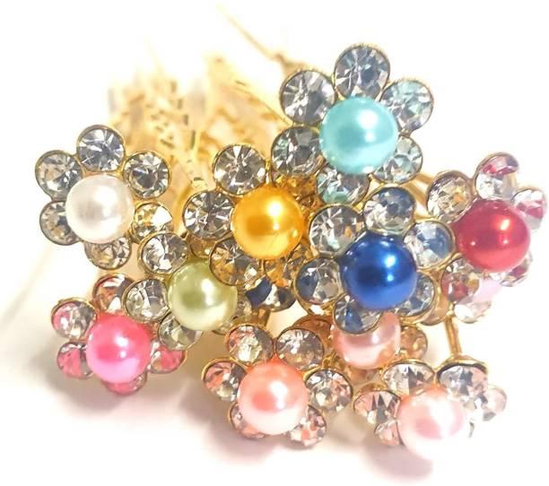 RosaStella Beautiful White Pearl Hair Jewelry Bridal Hair Pin Juda Pins 12 pcs (White) (multi-pearl) Hair Pin
