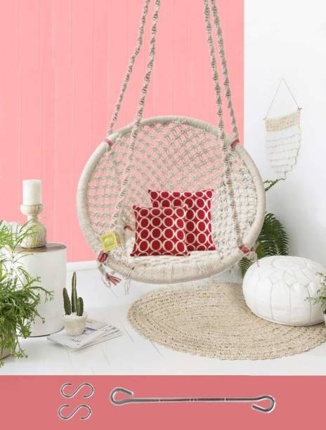 Curio Centre Cotton Rope Hanging Swing/Jhula Cotton Large Swing