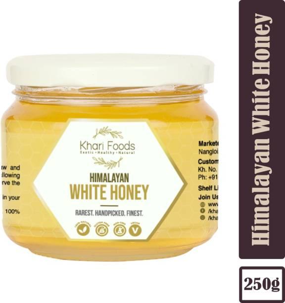 Khari Foods Premium Certified Himalayan White Honey, Unsweetened, Unpasteurized, High Pollen