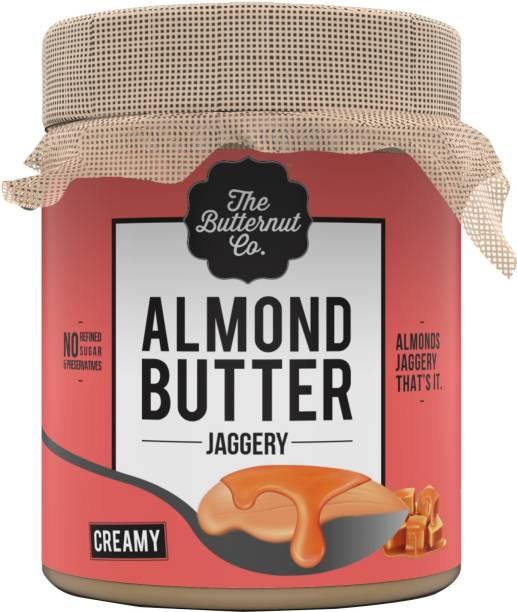 The Butternut Co. Jaggery Almond Butter Creamy (No Added Sugar, Non-GMO, Gluten Free, Vegan, High Protein, Keto) 200 g