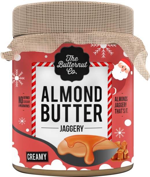 The Butternut Co. Jaggery Almond Butter Creamy, Christmas Version (No Added Sugar, Non-GMO, Gluten Free, Vegan, High Protein, Keto) 200 g