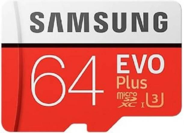 SAMSUNG EVO Plus 64 GB Memory Stick XC Class 10 100 MB/s  Memory Card