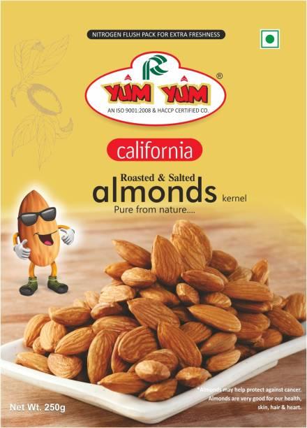 YUM YUM California Roasted Lightly Salted Almond 250g Almonds