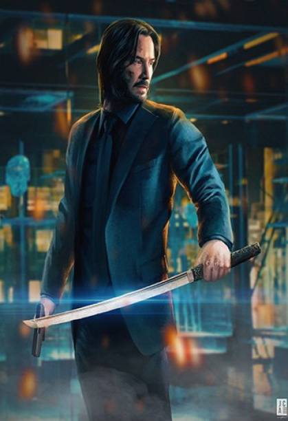 John Wick TV Series Wall Poster For Room & Office (Size 13 Inch X 19 Inch, Rolled) Multicolor Paper Print