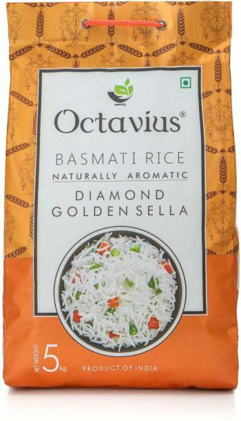 Octavius Diamond Golden Sella Yellow Basmati Rice (Long Grain, Parboiled)