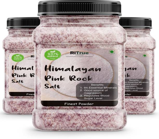 RiTrue 1.5 KG Authentic Himalayan Pink Rock Salt FINEST POWDER Organic for weight loss & Daily Healthy Cooking Himalayan Pink Salt