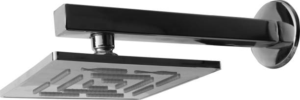 """Kopter Premium 6 x 6 Stainless steel Shower with 12"""" square Rod and ideal for Hot and Cold water"""