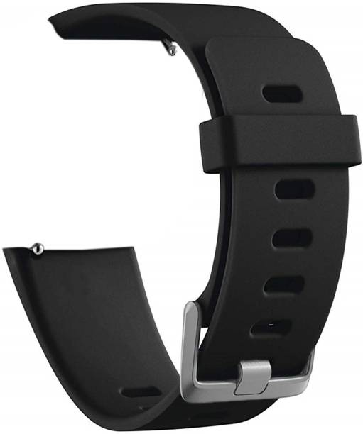 WEWIN Sport Silicone Band Compatible with Fitbit Versa/Fitbit Versa 2/Fitbit Versa Lite Edition, Black With Buckle (Watch Not Included) Smart Watch Strap