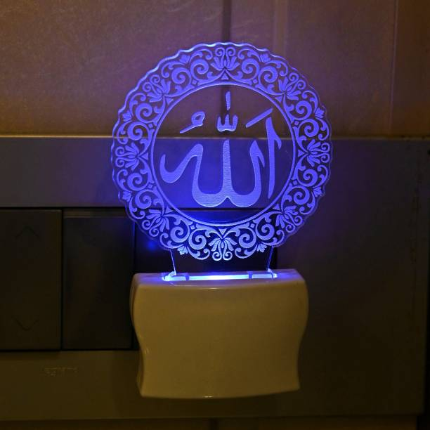 AFAST 3D Illusion Allha Center In Design Multi Color LED Night Lamp Night Lamp