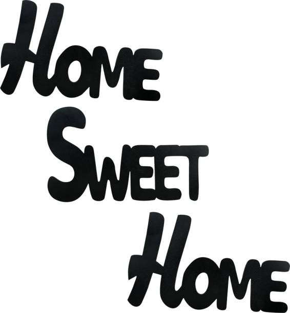 Sehaz Artworks Home Sweet Home Plaque Sign - Black Sign