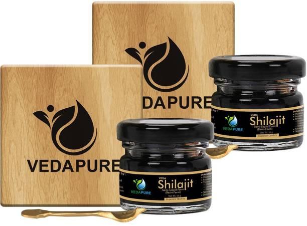 vedapure naturals Raw Shilajit?shilajeet Resin for Strength, Stamina, Endurance & General weakness