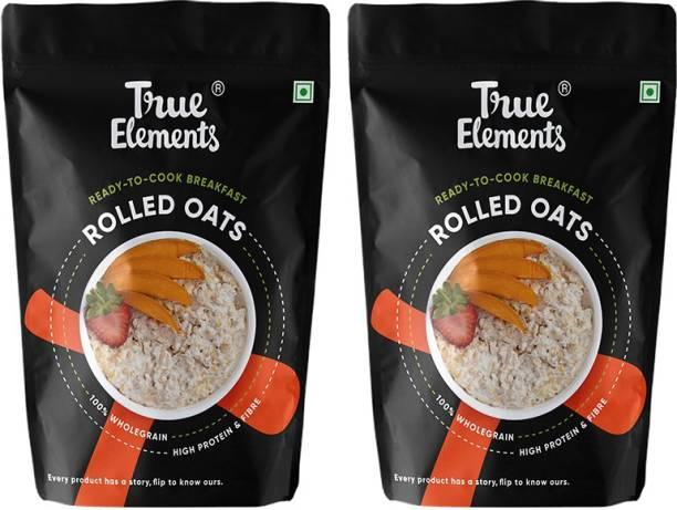 True Elements Rolled Oats, High Fibre, 100% Wholegrain Breakfast