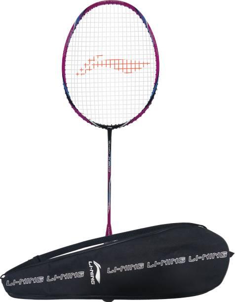 LI-NING TURBO X 80-II Black, Blue, Pink Strung Badminton Racquet