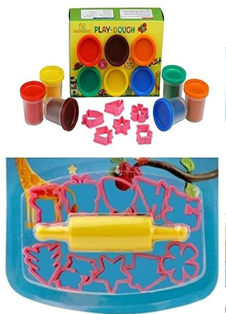 anjanaware Kids Play Dough Modelling clay with tool set pcs and Moulds