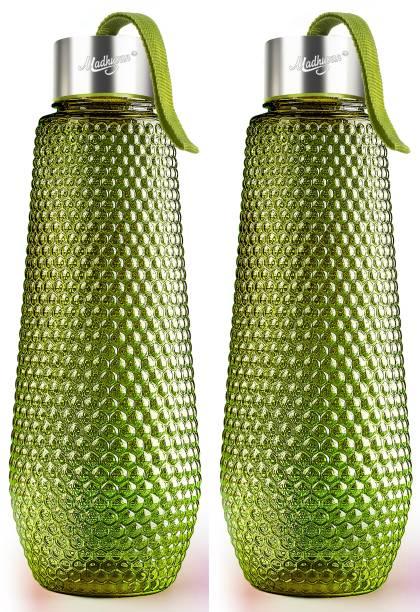 Madhuvan Hexa Shape Water Bottle for School, College, Office 1000 ml Bottle