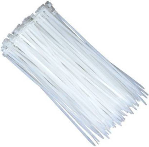 """SINKUL •100 Pieces 4"""" INCH CABLE TIES 100 MM x 2.5 MM WHITE NYLON ZIP WIRE ORGANISER STANDARD FLEXIBLE SELF LOCKING TIE Nylon Flexible Straps Cable Tie (White Pack of 100) Nylon Flexible Straps Cable Tie"""