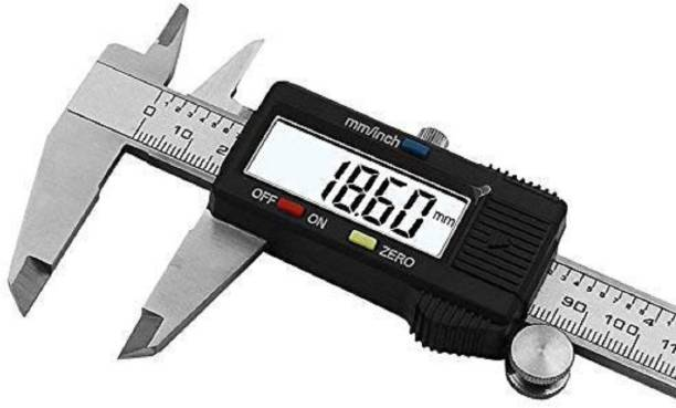 Bloriza Stainless Steel Digital Vernier Caliper/Micrometer 6-inch / 150mm (Pack of 1)-Black Digital Caliper