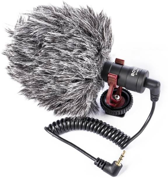 BOYA BY-MM1 3.5mm Universal DSLR & SmartPhone Cardioid Shotgun Camera Microphone