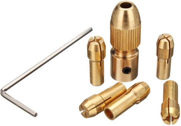 Themisto 5mm Shank Metal Drill Chuck Collet Bits Rotary with Screw, 0.5-3 mm for RS775 motor