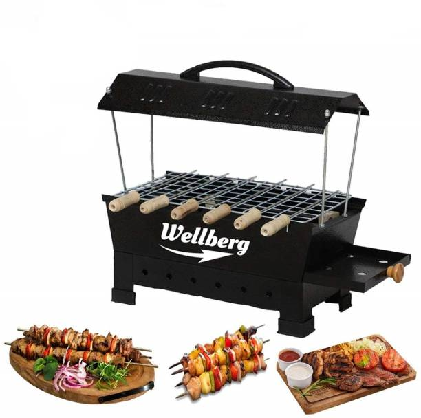 WELLBERG Electric & Non Electric Barbeque Grill Tandoori Maker For Home Use with Extra Accessories (multicolour) Electric Grill (Big) Electric Tandoor