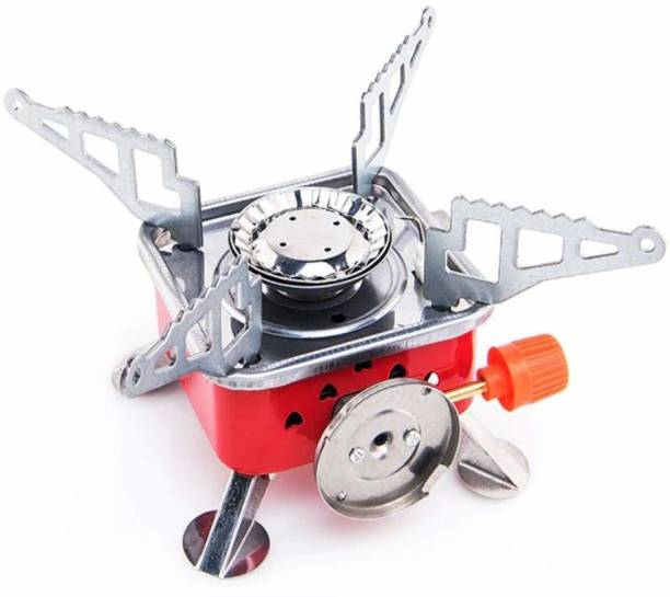 KitchExpo Portable Travelling Card Type Stove,Outdoor Stove Picnic Cooking Gas Burners Backpacking Furnace Butane. Stainless Steel Automatic Stove