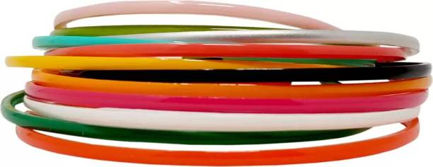 Kidzoo Hair Band Combo Of Rainbow Colors XS, For thin and cute hair, Hair Band, School Time, Dailyuse, Head Band, for Women/Girls (Pack of 12) HairBand (Multicolor) Hair Band