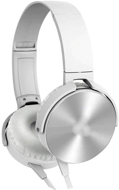 AMUSING High Extra bass Headphones with foldable Adjustable Headband Wired Headset