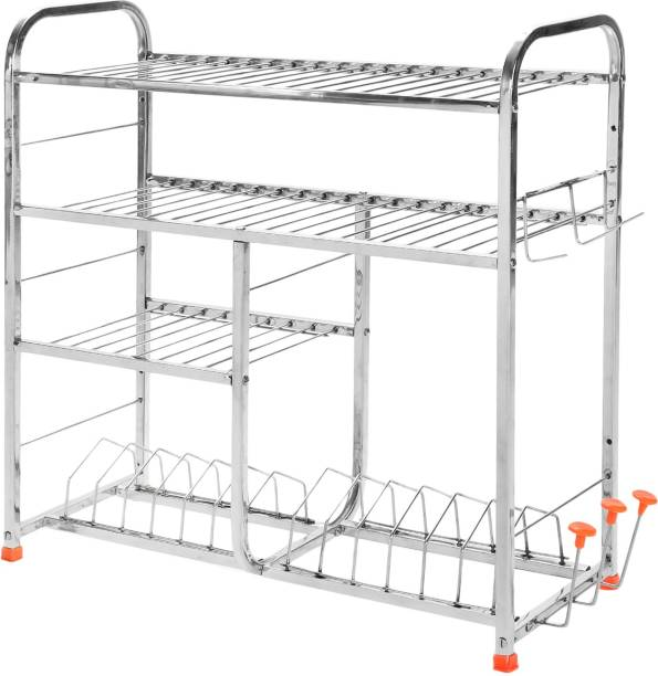 Irontech Premium Quality 24 X 24 Inches Wall Mount Kitchen Dish Rack / Plate Cutlery Stand / Shelf Rack / Modern Kitchen Storage Rack Utensil Kitchen Rack
