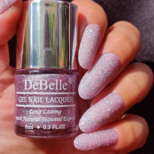 DeBelle Gel Nail Lacquer (Lavender with Holo Glitter ; Sugar Finish) Ophelia