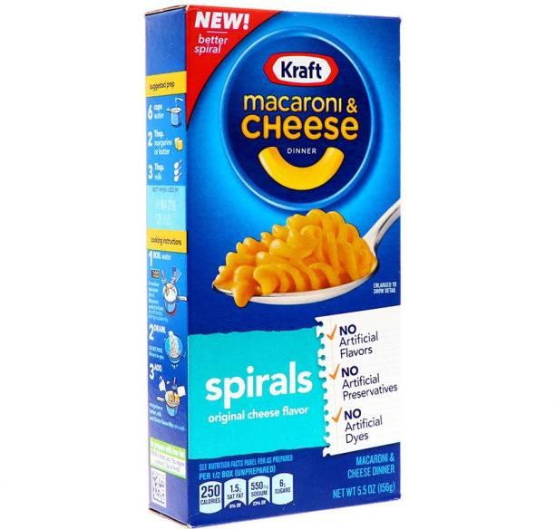KRAFT Macaroni & Cheese Dinner Spirals Original Cheese Flavor, 156g Macaroni Pasta