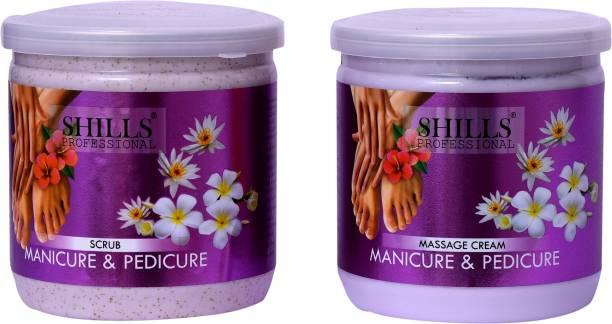 Shills Professional Manicure & Pedicure Massage Cream And Scrub
