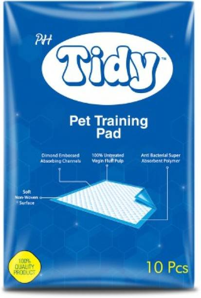 PH TIDY Pet Training Pads 60x90 cms Large Training Pads Puppy Training Pee and Potty Pads with Quick Drying Surface and Absorbent Core, Suitable for Small/Large breed pets , dogs , cats - Pack of 1, 10 pieces Disposable Dog Diapers