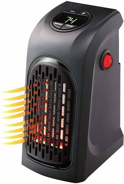 RFV1 Handy Heater | Plug-in Personal Heater | Compact Design | Quick and Easy Heat | Digital Display | Great for Travel | On/Off with Timer | for Home/Office/Camper. Fan Room Heater