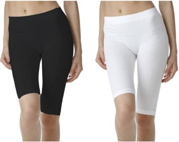 Apraa & Parma Solid Women Black Sports Shorts