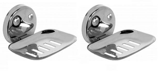 LABATHWAYS Premium Stainless Steel Soap Dish Soap Holder Soap Stand (Pack of 2)