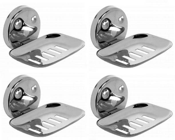 LABATHWAYS Premium Stainless Steel Soap Dish Soap Holder Soap Stand (Pack of 4)