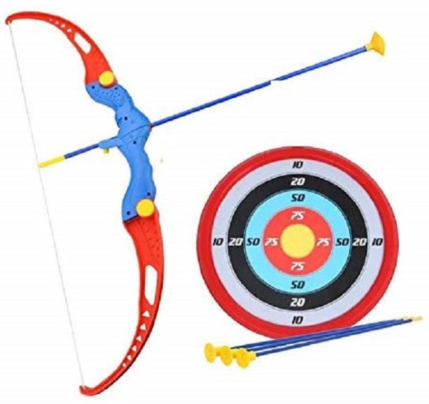Devta Kids Archery Bow and Arrow Toy Set with Target Outdoor Garden Fun Game Bow & 3 Cup Suction Arrows Target Bows & Arrows Bows & Arrows