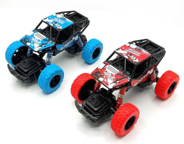Toyshack Pull Back Rock Crawler Monster Truck with Rubber Wheels