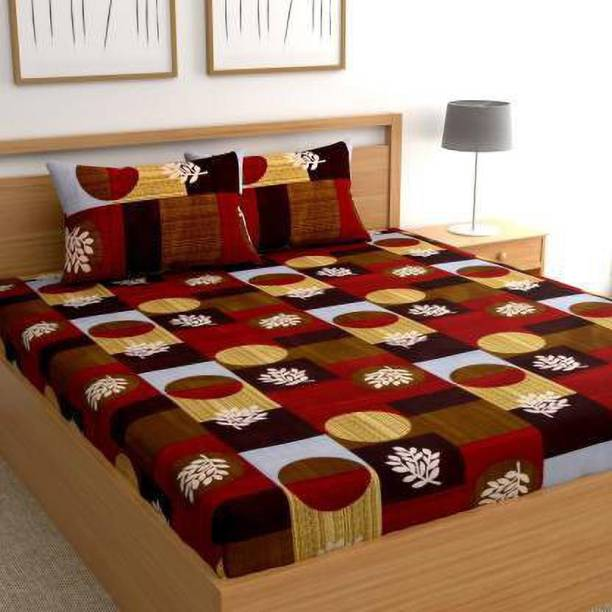 SACHIN ENTERPRISES 245 TC Cotton Double King 3D Printed Bedsheet