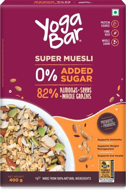 Yogabar Super Muesli, No Added or Hidden Sugar