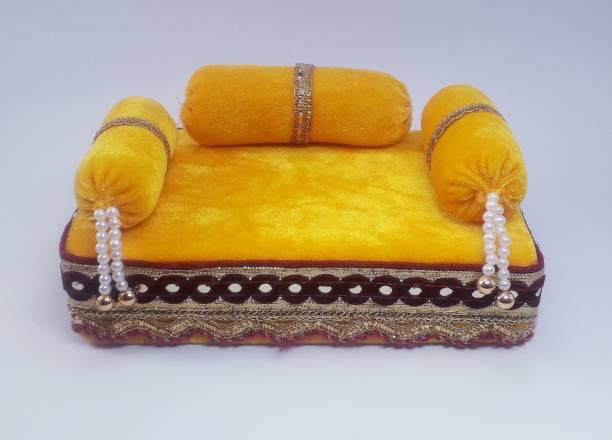 R D Handicraft R D Handicraft Thakur ji Singhasan, Laddu Gopal ji Singhasan, Bal Gopal ji Singhasan Silk All Purpose Chowki