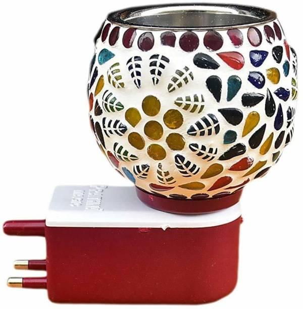 jamunesh enterprise Ceramic Aroma Diffuser Kapoor Dani, Burner with Night Lamp for Home, Office Ceramic Incense Holder