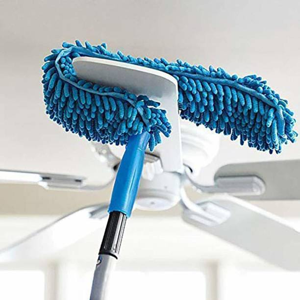 MATIQSTAR Cleaning Brush Feather Microfiber Duster with Extendable Rod Dust Cleaner Fit Ceiling Fan Car Home Office Cleaning Tools Wet and Dry Duster Wet and Dry Duster