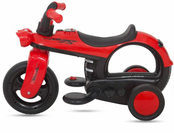 baybee Ride On Bike for Kids with Music, Horn, Headlights | 25 Kg Weight Capacity and Age 2 and Up Year Baby Ride on for Kids Boys/girls -Bike Battery Operated Bike Battery Operated Ride On