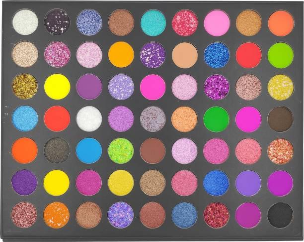 s.f.r color Fireworks Show 63 Color Pressed Pigment Eyeshadow Palette ( Glitter,Shimmer,Matte, Metalic) 69.5 g