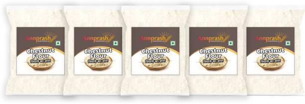 ANNPRASH Premium Quality Chestnut Flour/ Singhara Atta - 1.25KG (250GMx5)